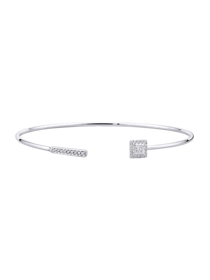 Diemer Diamant Armspange mit Diamant und Brillanten, Weiß