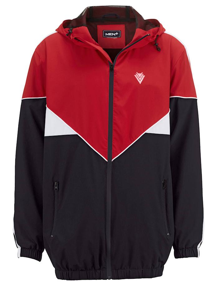 Men Plus Mikina z rýchloschnúceho materiálu, čierna/červená/biela