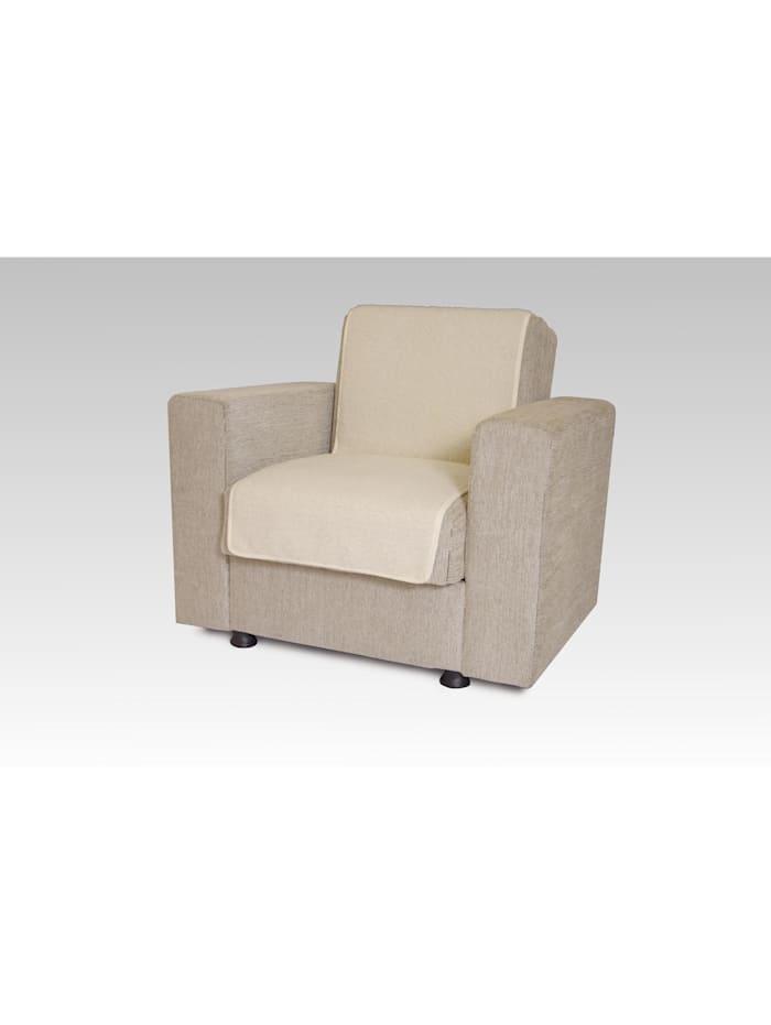 Linke Licardo Sesselschoner Sitzflächenschoner Wolle ca. 175 x 47 cm ecru, ecru