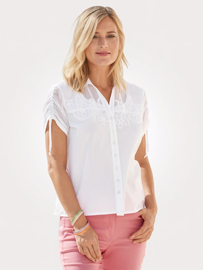 Just White Blouse with sequin detailing, White