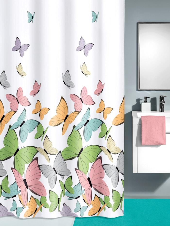 Kleine Wolke Douchegordijn Vlinder, multicolor