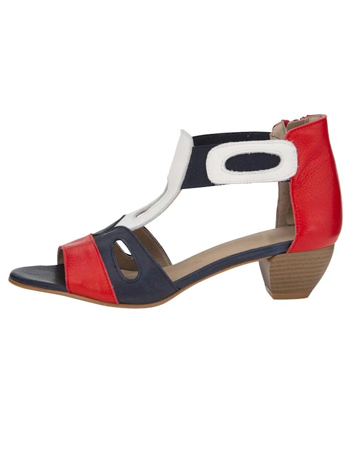 Sandaletter i snygg färgmix