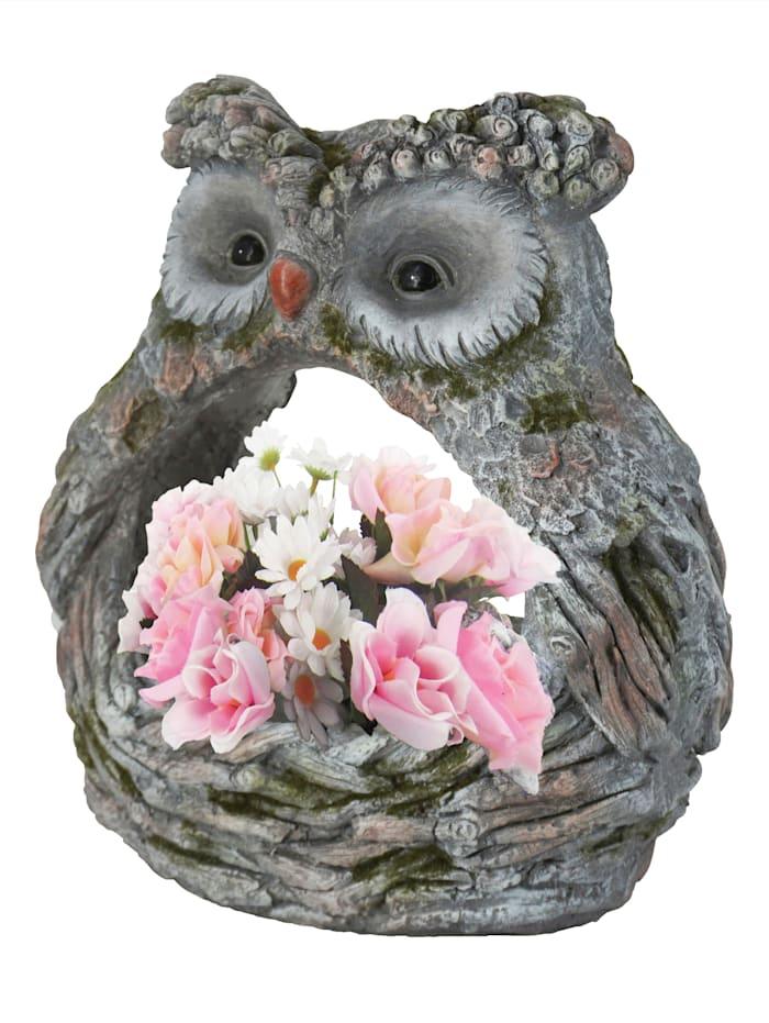 """Pot de fleurs """"Chouette"""", Gris"""