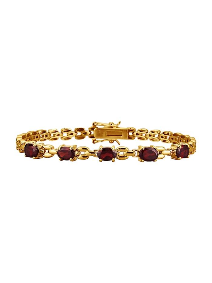 Bracelet avec grenat, Coloris or jaune