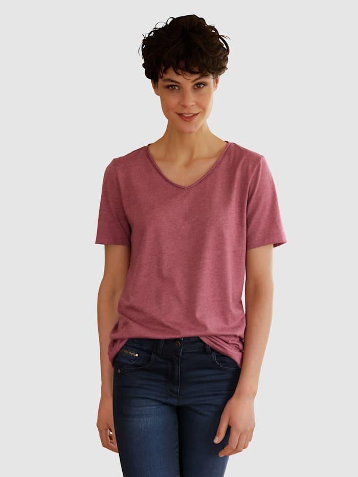 Dress In Shirt in tollen Farben, Brombeere