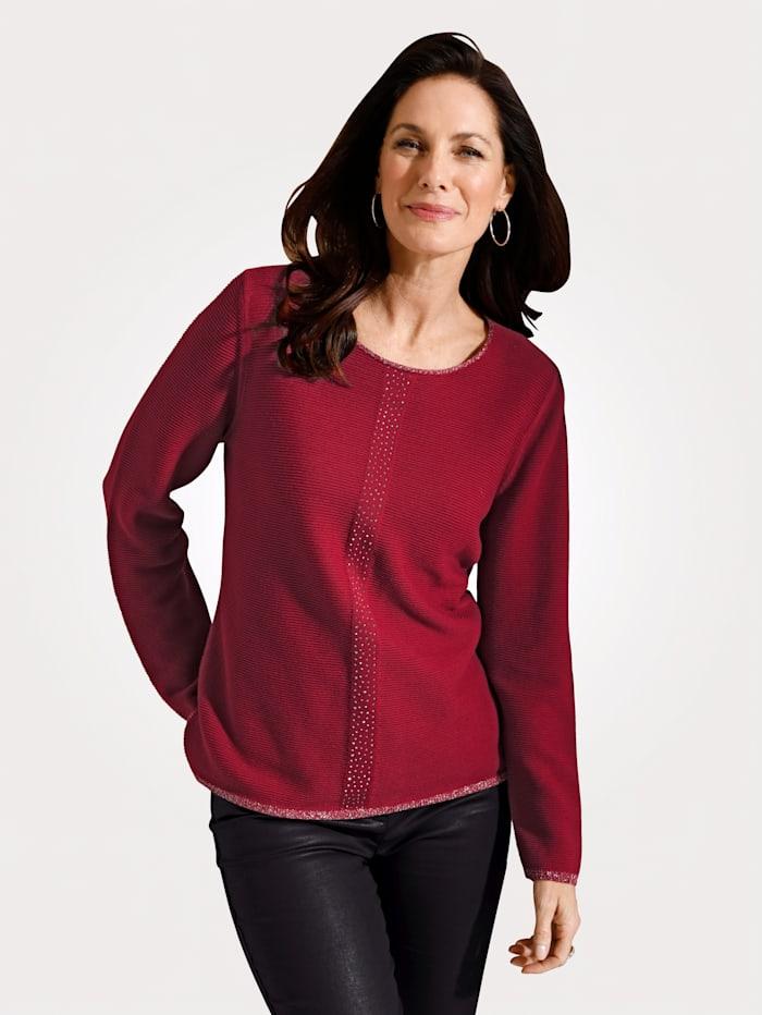 MONA Pullover mit Rippen-Struktur, Rot