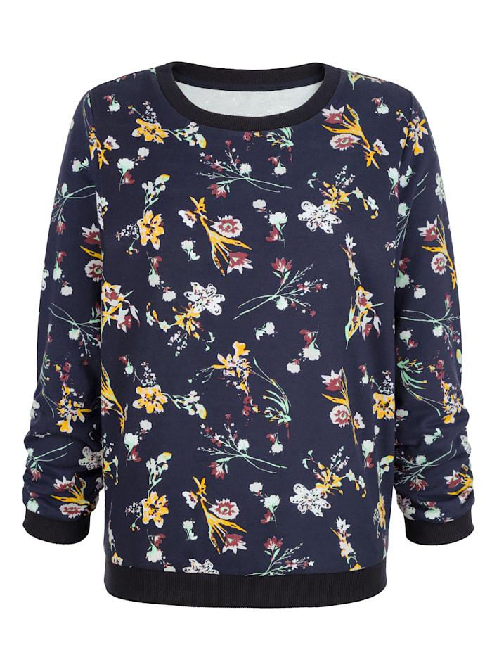 Sweat-shirt à imprimé floral
