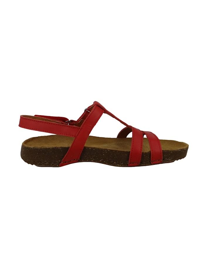 0946 I Breathe Damen Leder Sandale Red Rot