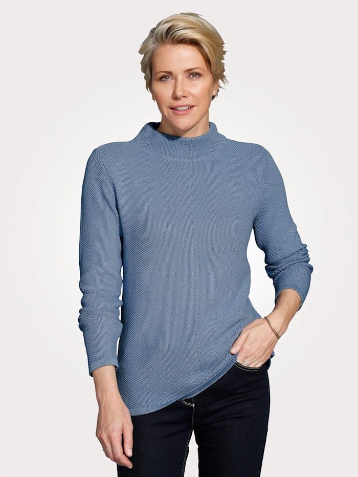 MONA Pull-over en pur coton PIMA, Bleu
