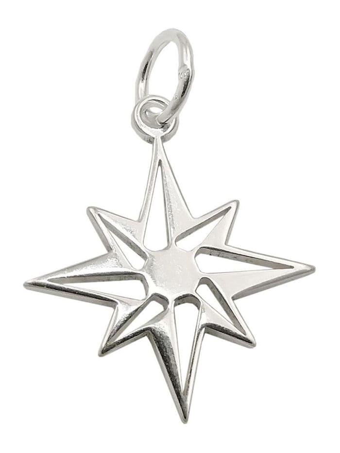 925 Sterlingsilber Silberanhänger Anhänger 13mm Stern bicolor Silber
