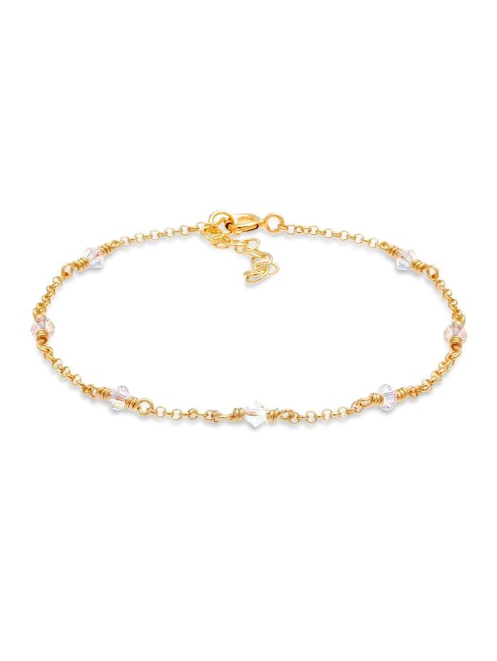 Elli Armband Funkelnde Bicone  Kristalle 925 Silber, Gold