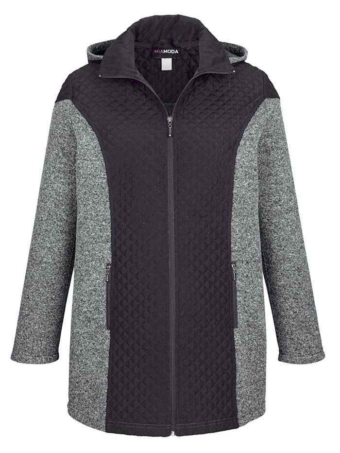 Jacke aus hochwertigem Materialmix