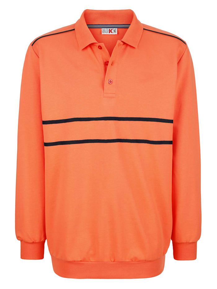 Roger Kent Sweatshirt med kontrasterande detaljer, Orange