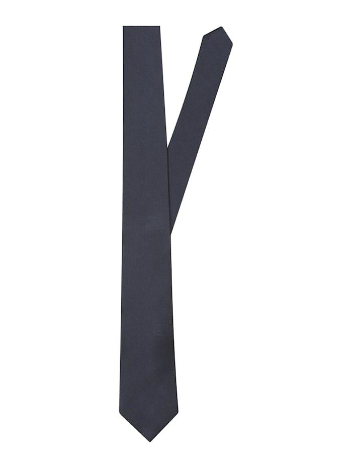 Seidensticker Krawatte ' Schwarze Rose ', uni blau (0018)