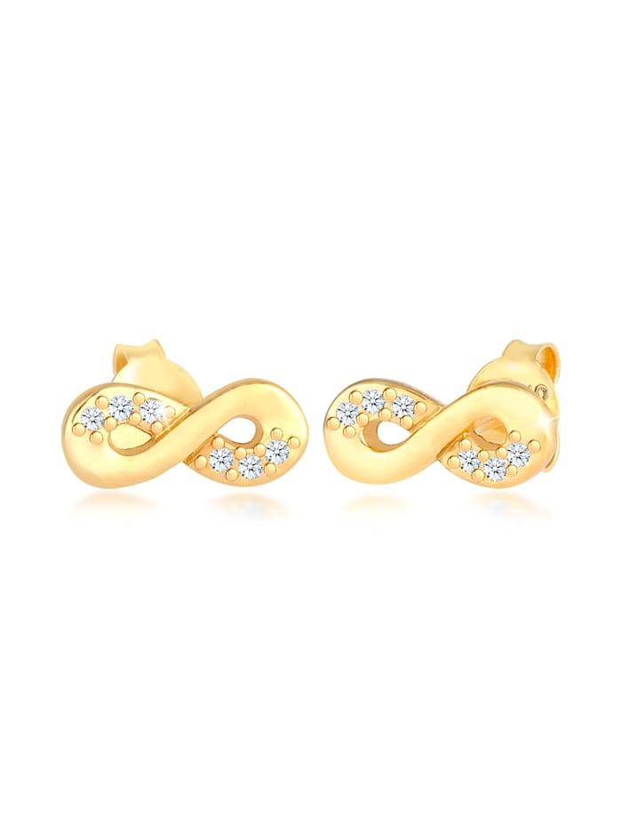 DIAMORE Ohrringe Infinity Diamant 0.06 Ct. Liebe 585 Gelbgold, Gold