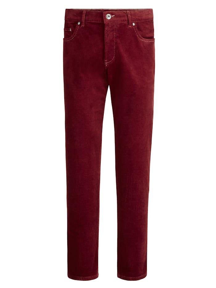 BABISTA Kordové kalhoty ze super jemné kvality, Bordó