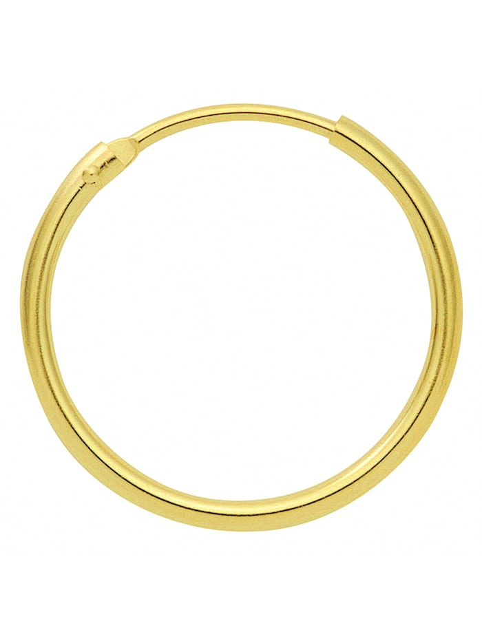 1001 Diamonds Damen Goldschmuck 585 Gold Ohrringe / Creolen Ø 9 mm, gold