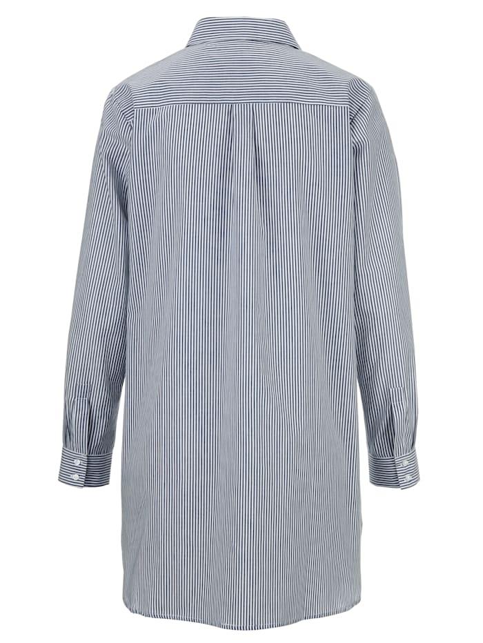 Nachthemd met trendy overhemdkraag
