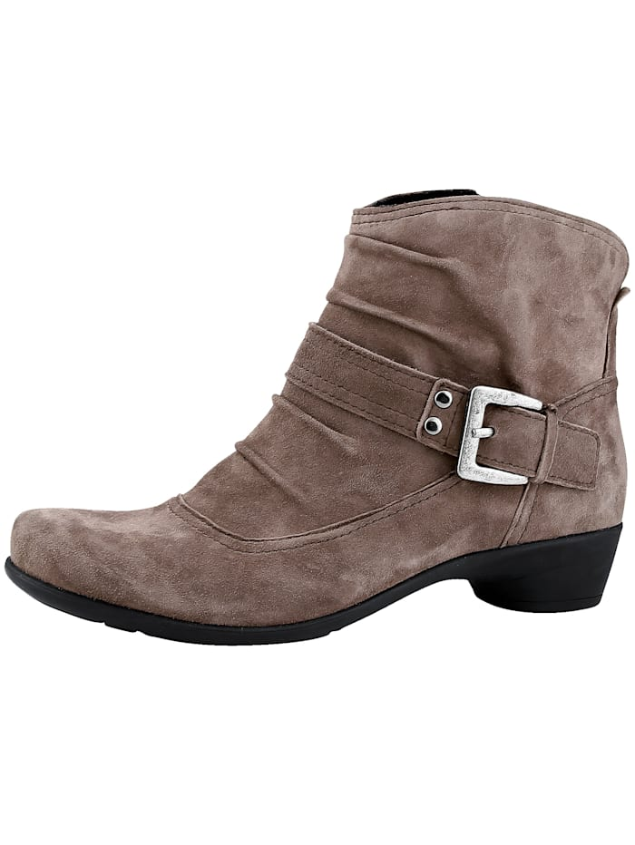 Naturläufer Ankle boots with decorative buckle, Taupe