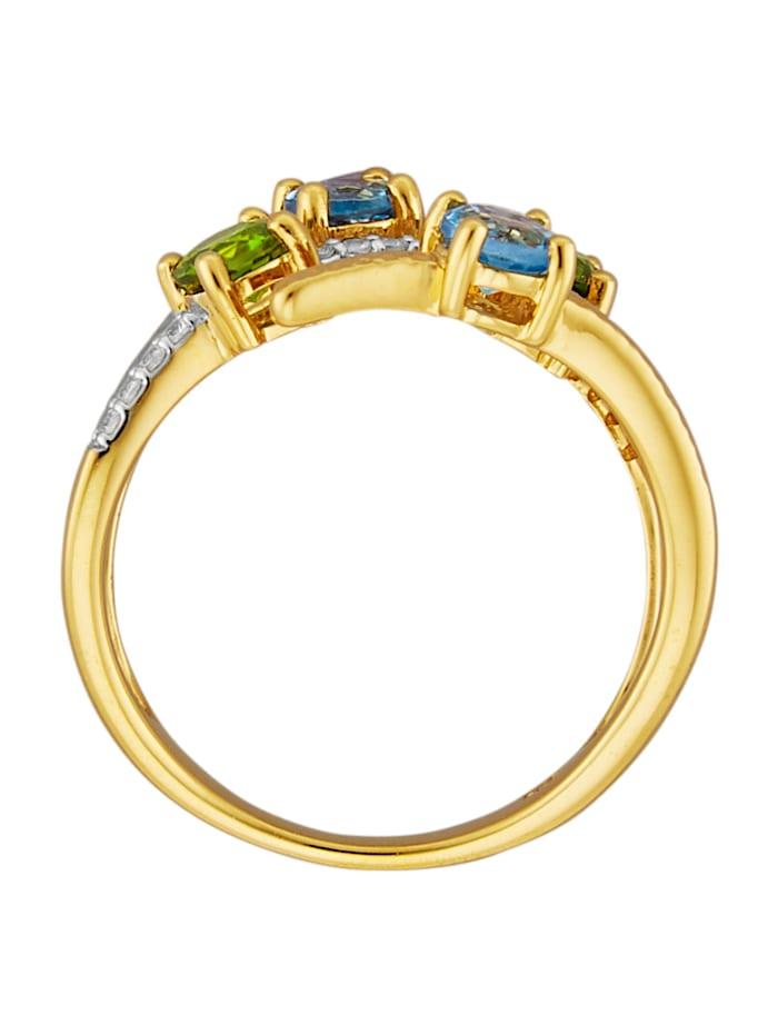 Ring av guldfärgat silver 925