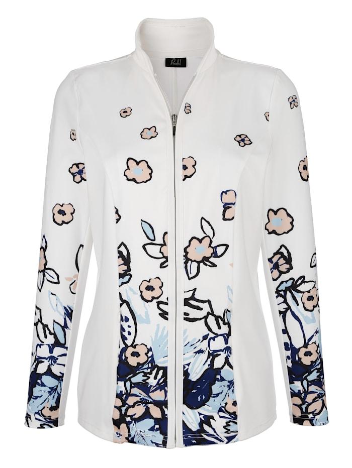 Tričkový kabátik s kvetinovou potlačou