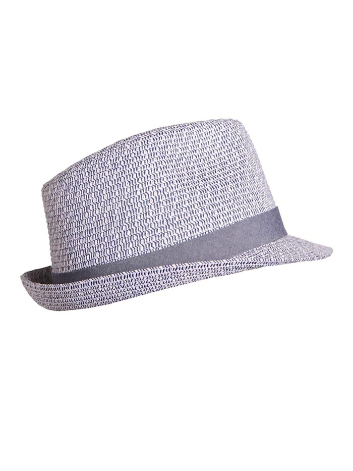 Stöhr Strohhut für den Strand, blau-weiß