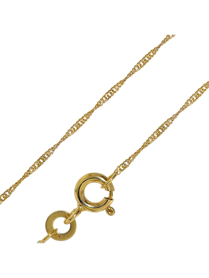 trendor Goldkette für Damen 333 Gold (8 Karat) Singapur-Muster 1,0 mm, Goldfarben