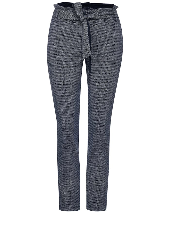 Cecil Casual Fit Hose in Inch 28, deep blue