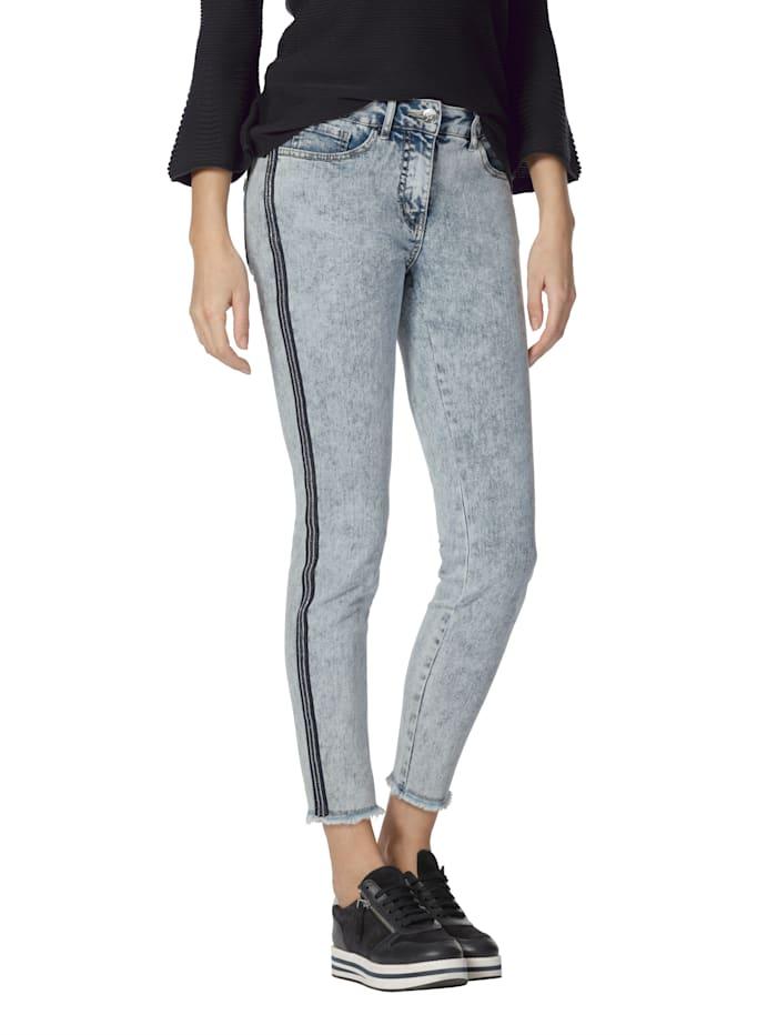 AMY VERMONT Jeans mit Zierband, Blue bleached