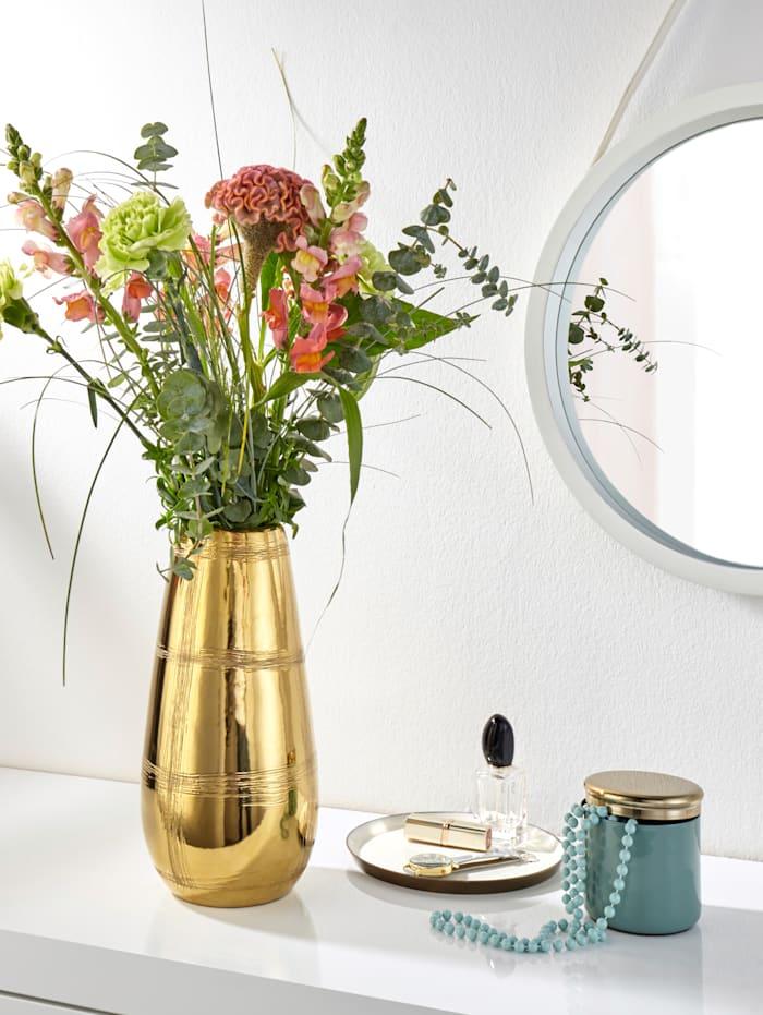 Vase, goldfarben