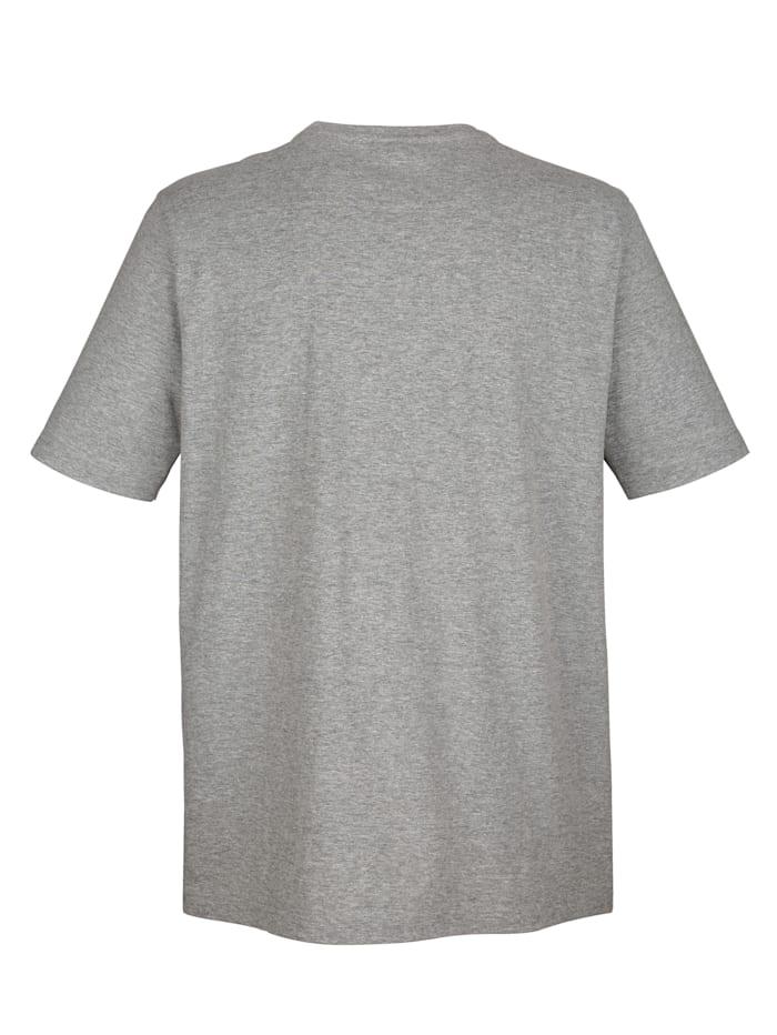 T-shirt à poche poitrine et broderie