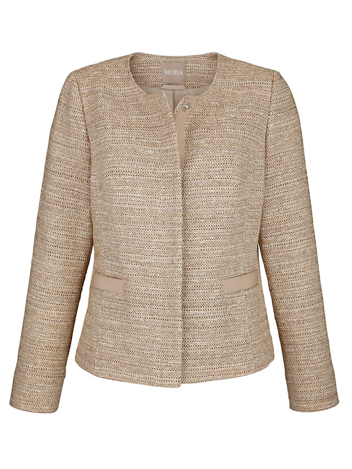 Blazer with interwoven shimmering thread