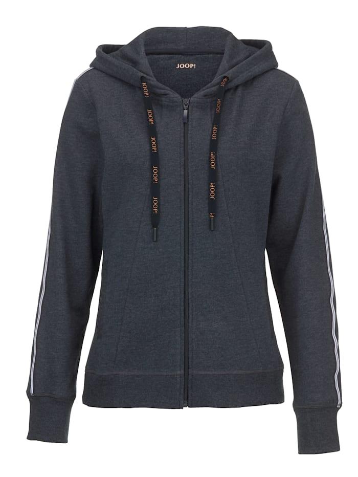 JOOP! Loungewear Jacket - Mix & Match, Blue/White