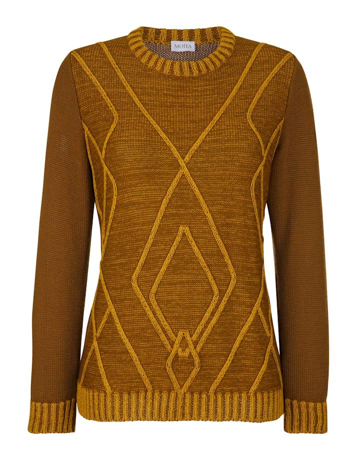 Pullover mit platziertem Strukturstrickmuster