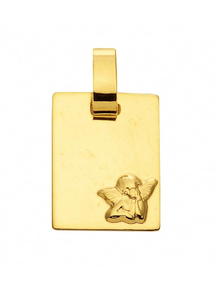 1001 Diamonds Damen Goldschmuck 585 Gold Anhänger Amor, gold