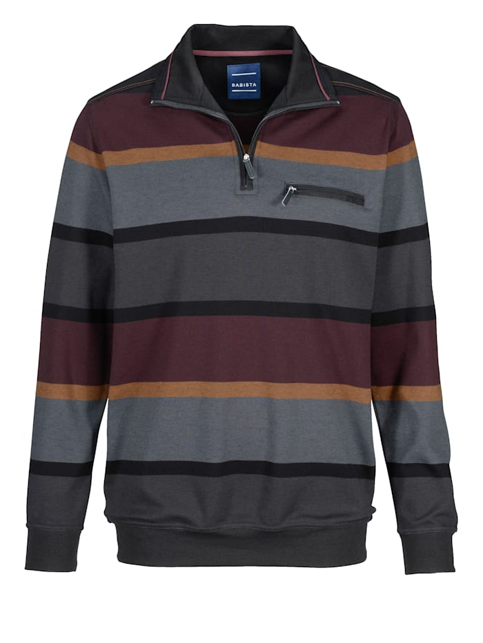 BABISTA Sweat-shirt, Anthracite/Bordeaux
