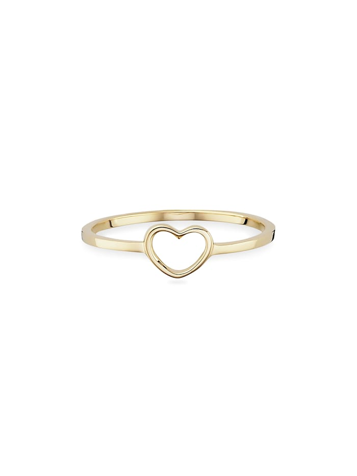 CAI Ring 925/- Sterling Silber ohne Stein vergoldet 925/- Sterling Silber, gelb