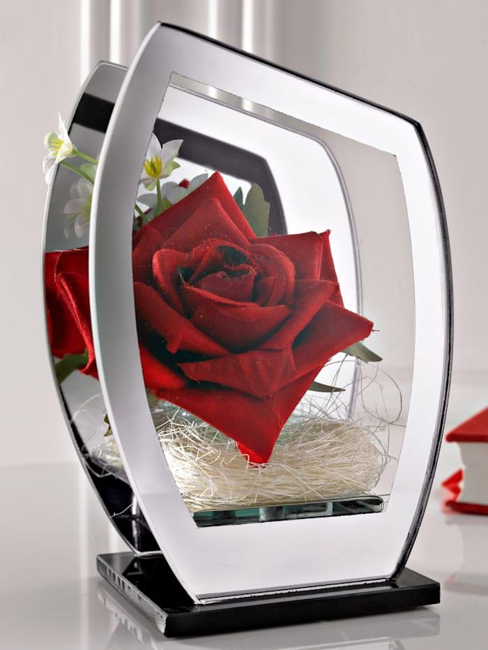 Rose im Glas mit LED