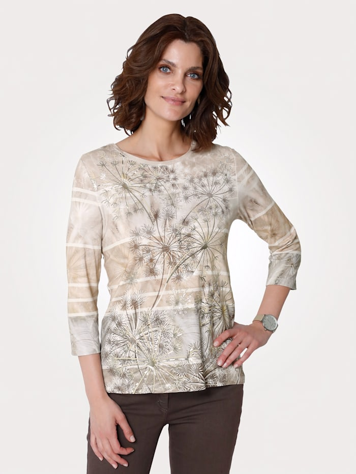 Top with a foil print