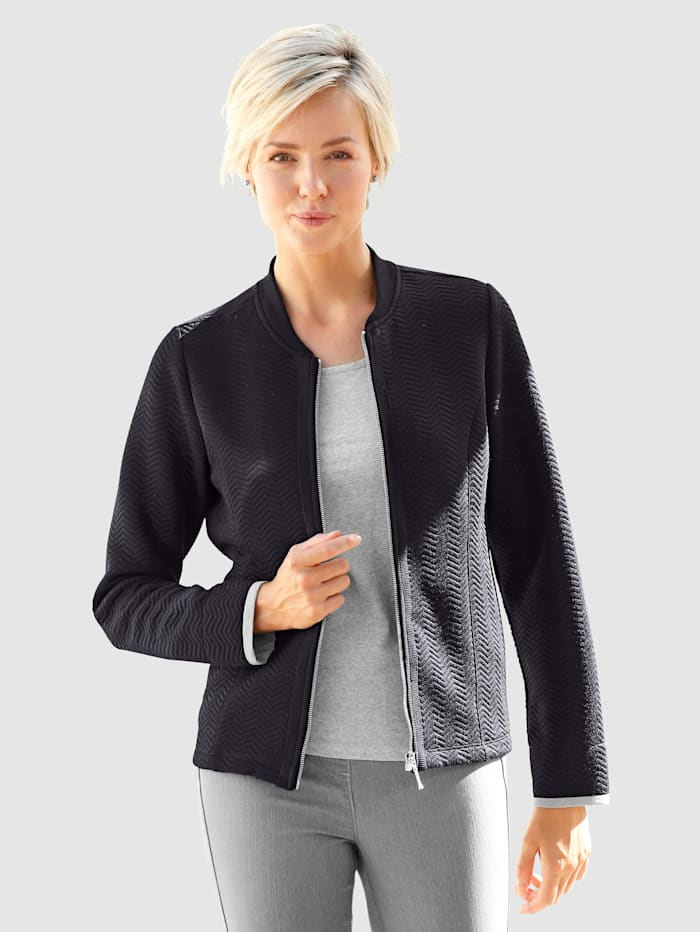 Sweat bluzón s kontrastní manžetou