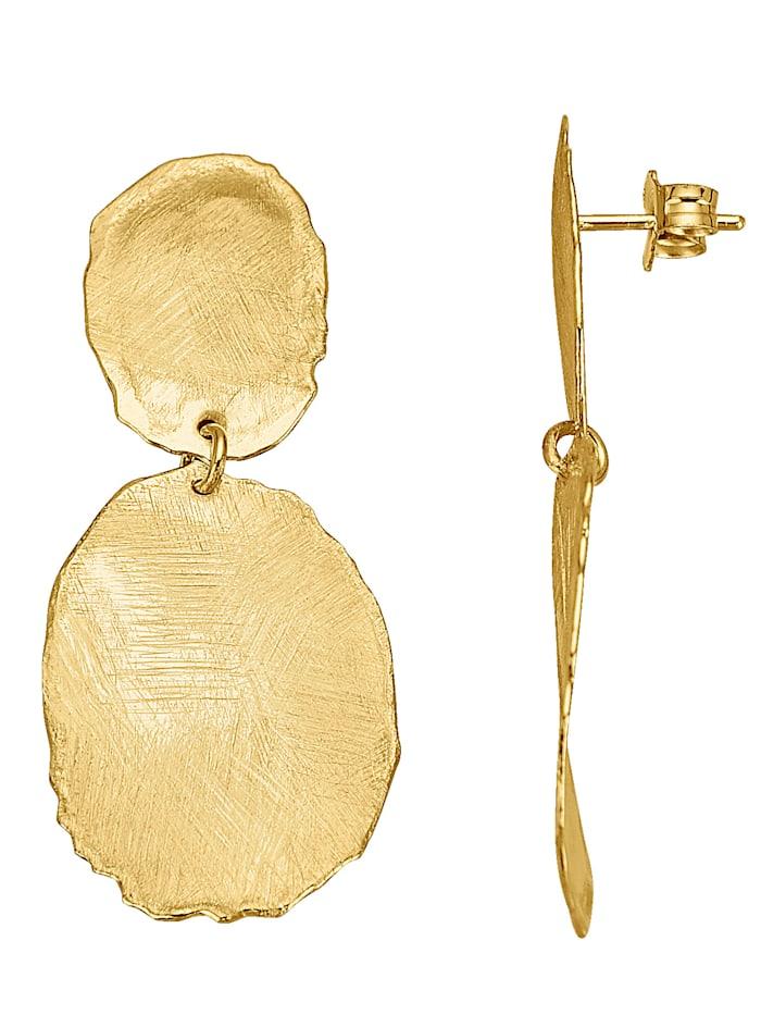 KLiNGEL Ohrstecker in Silber 925, vergoldet, Gelbgoldfarben