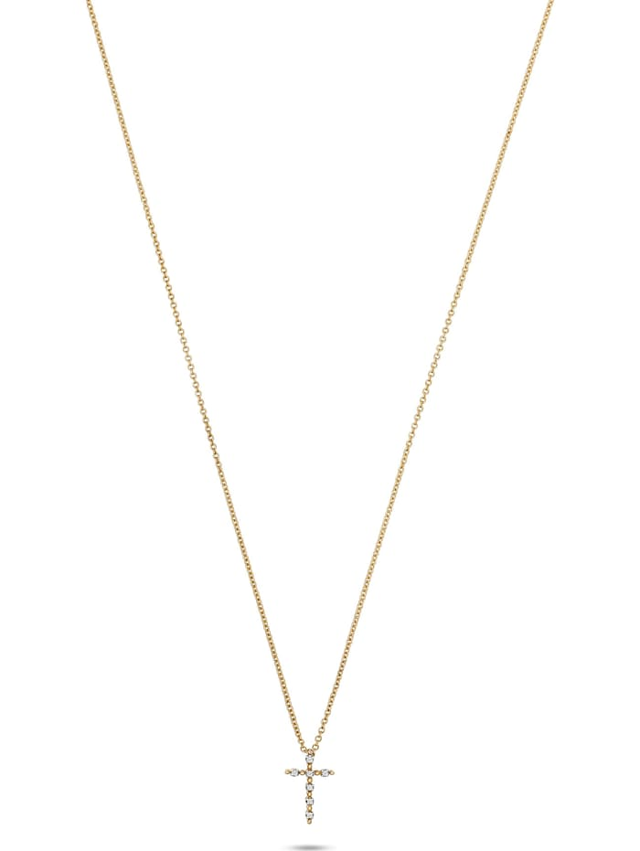 CHRIST C-Collection CHRIST Damen-Kette 375er Gelbgold 7 Diamant, gelbgold