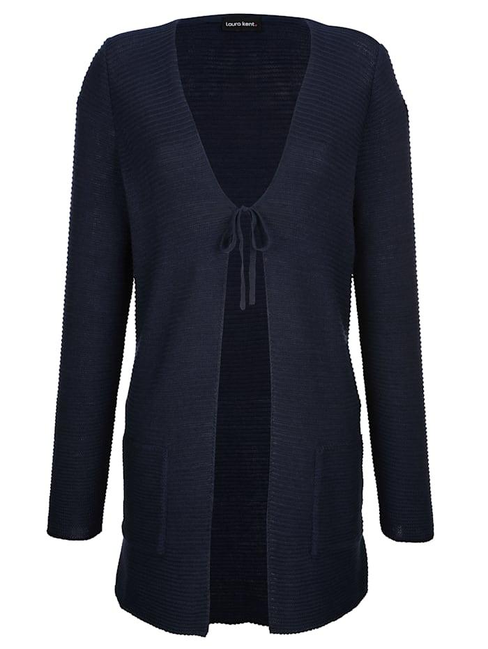 Vest in modieus model zonder sluiting