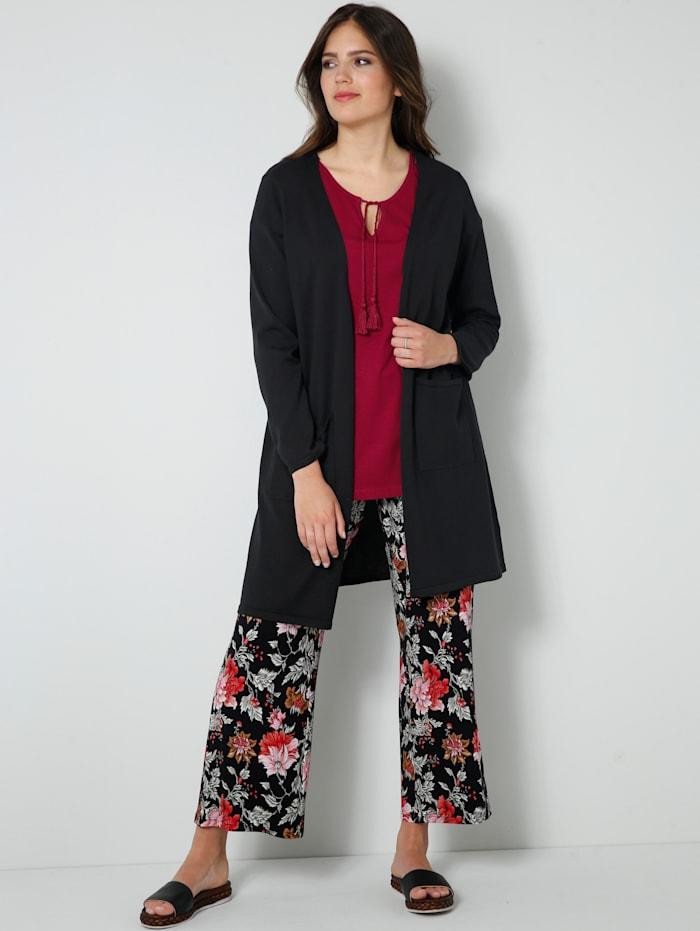 Jersey-Hose mit floralem Druck