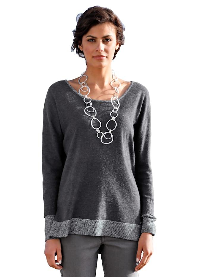 AMY VERMONT Pullover mit metallisiertem Garn, Grau