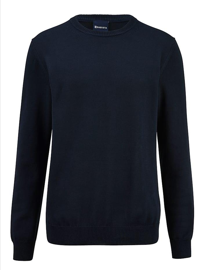 BABISTA Pullover aus reiner Baumwolle, Marineblau