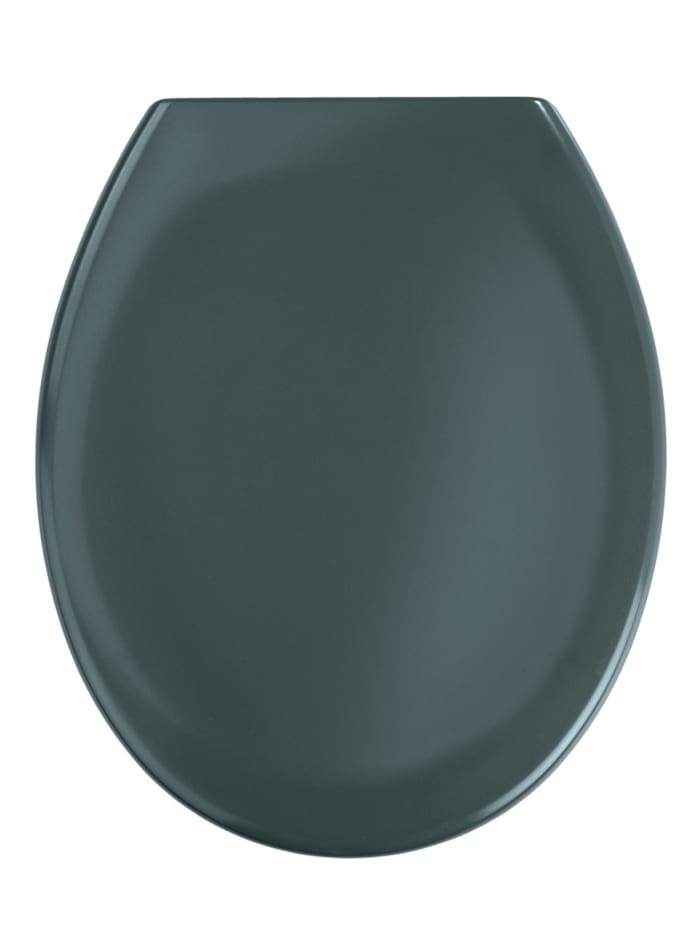 Wenko Premium WC-Sitz Ottana Dunkelgrau, mit Absenkautomatik, Grau - Dunkelgrau, Befestigung: Silber matt