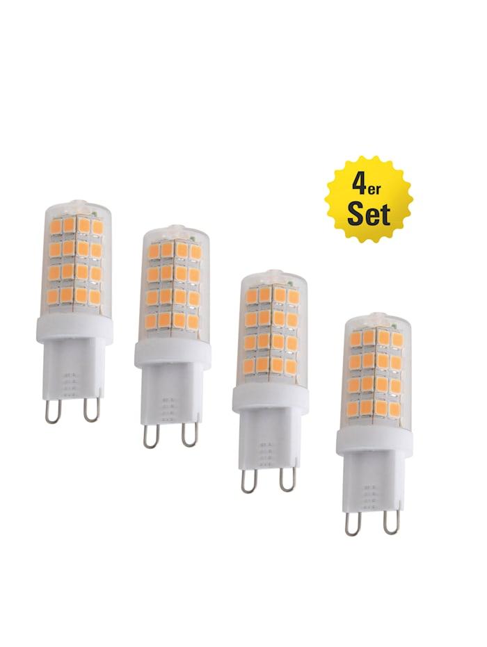 Näve 4er Set LED-Leuchtmittel G9/4W, weiß