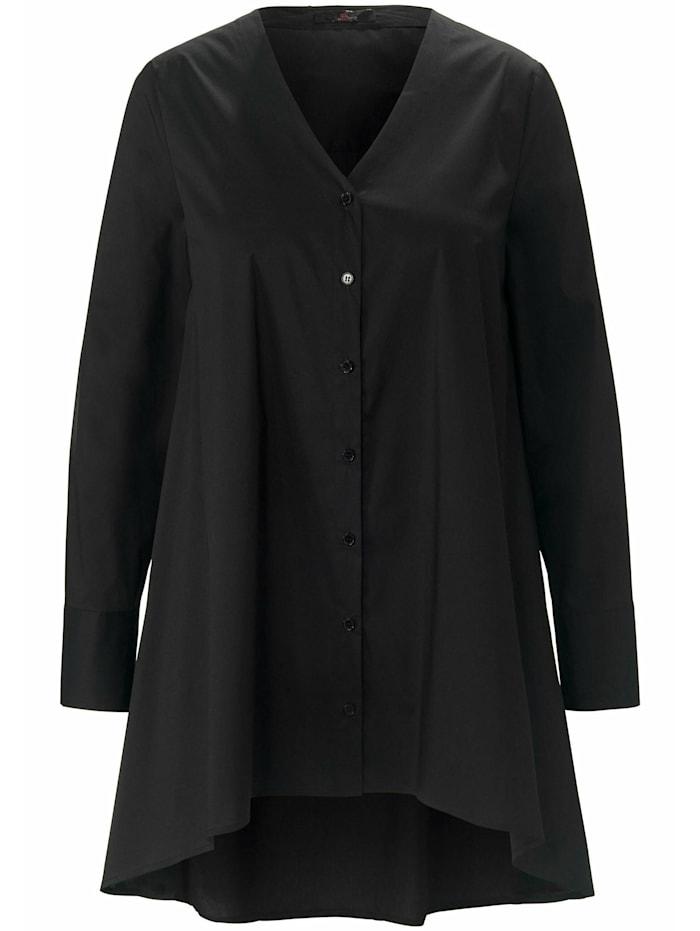 Emilia Lay Langarmbluse Long-Bluse, schwarz