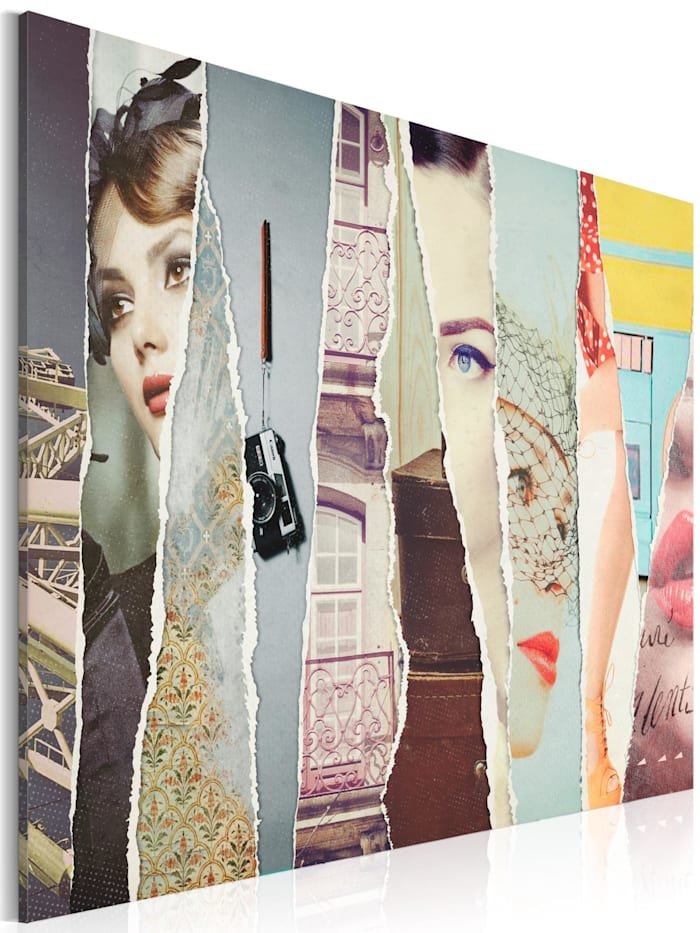 artgeist Wandbild Woman's eye, mehrfarbig